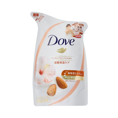 unilever 联合利华 多芬 高保湿沐浴露 杏仁&木槿 替换装 340g