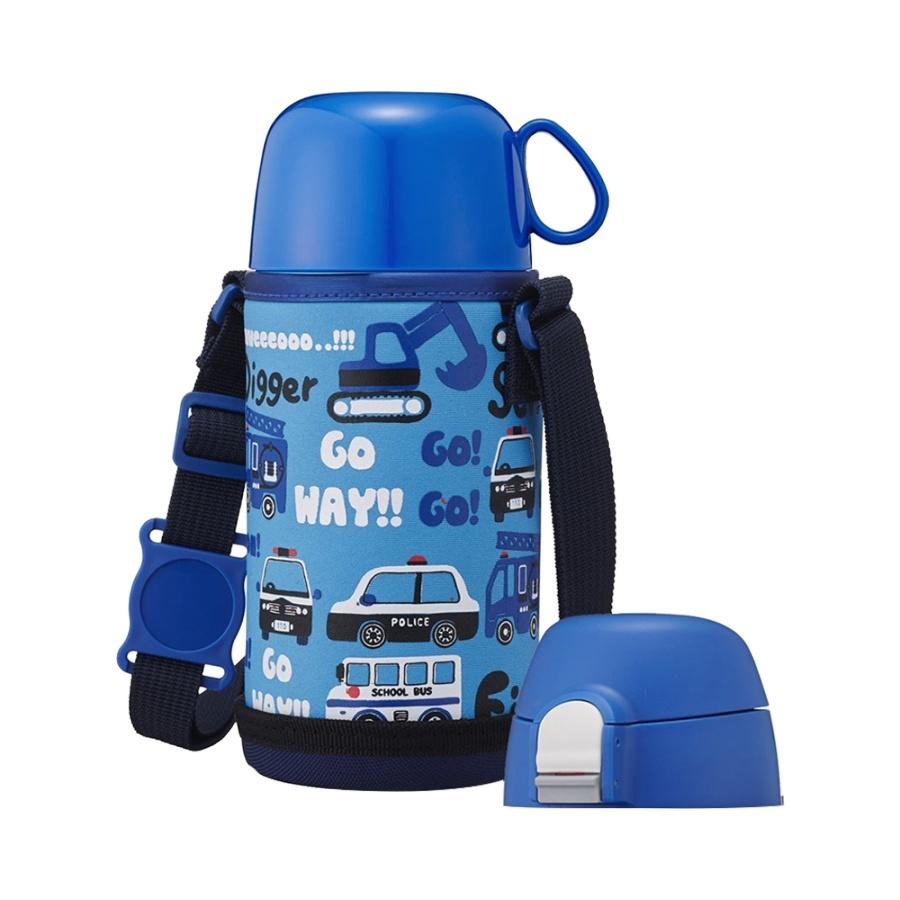 DOSHISHA 同志社 儿童两用轻量保温杯 蓝色 450ml
