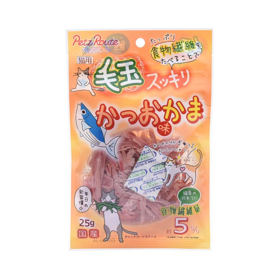 PETZ ROUTE 猫用排毛球鲣鱼味鱼糕片 25g