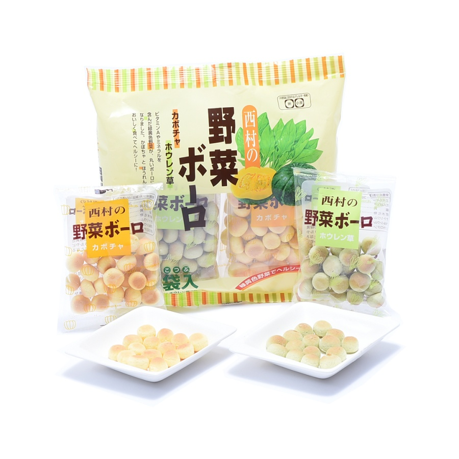 NISHIMURA 西村 菠菜南瓜混合蔬菜口味小馒头 20g*6