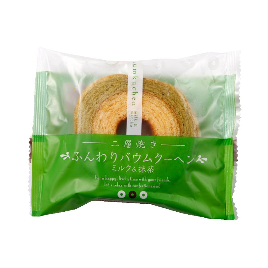 TAIYO FOODS 太阳食品 双层烘焙蓬松年轮蛋糕 牛奶抹茶口味 1个