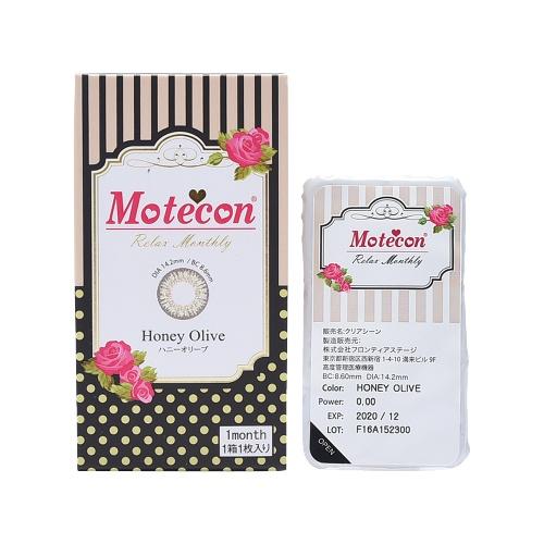 Motecon 月抛型美瞳 蜂蜜橄榄绿 1片装 -3.25