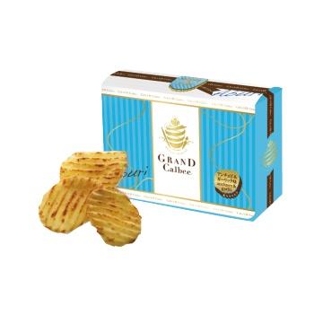 CALBEE 卡乐比 炙烤薯片 海蜒鱼蒜香味 17g×4袋