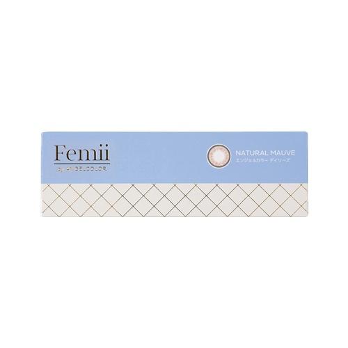 femii by angel color 日抛型美瞳 自然灰棕 30枚装 -3.75