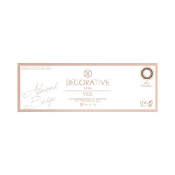 DECORATIVE EYES VEIL系列日抛型美瞳 杏仁米色 10枚 -3.00