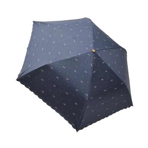 w.p.c 蝴蝶结晴雨两用三折伞 801–945 藏青色 50cm 1把
