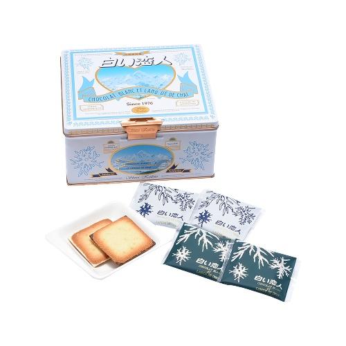 ISHIYA 石屋制菓 白色恋人黑白配巧克力饼干 铁盒装 36片装