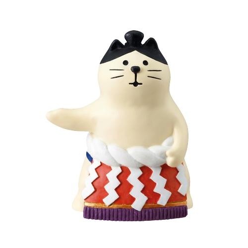 DECOLE concombre 相扑猫咪摆件 1个