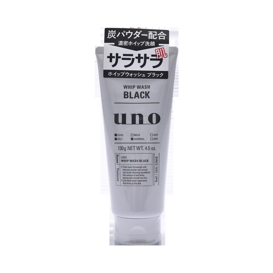 SHISEIDO 资生堂 UNO吾诺 新款黑炭清爽洗面奶 控油清爽型 130g