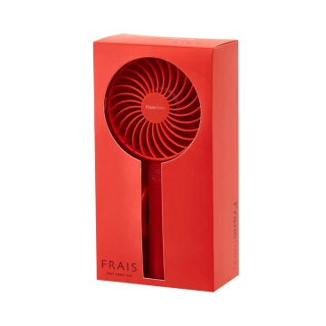 Francfranc 两用充电式便携电风扇 红色 1个