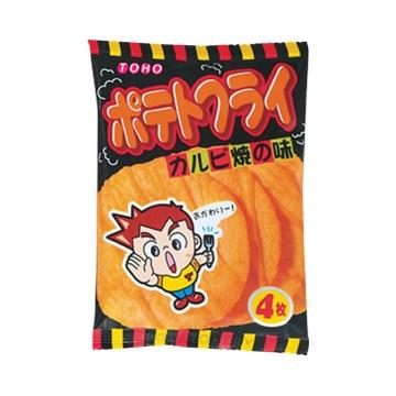 TOHO 东丰制果 休闲轻食酥脆薯片 烤肉味 11g