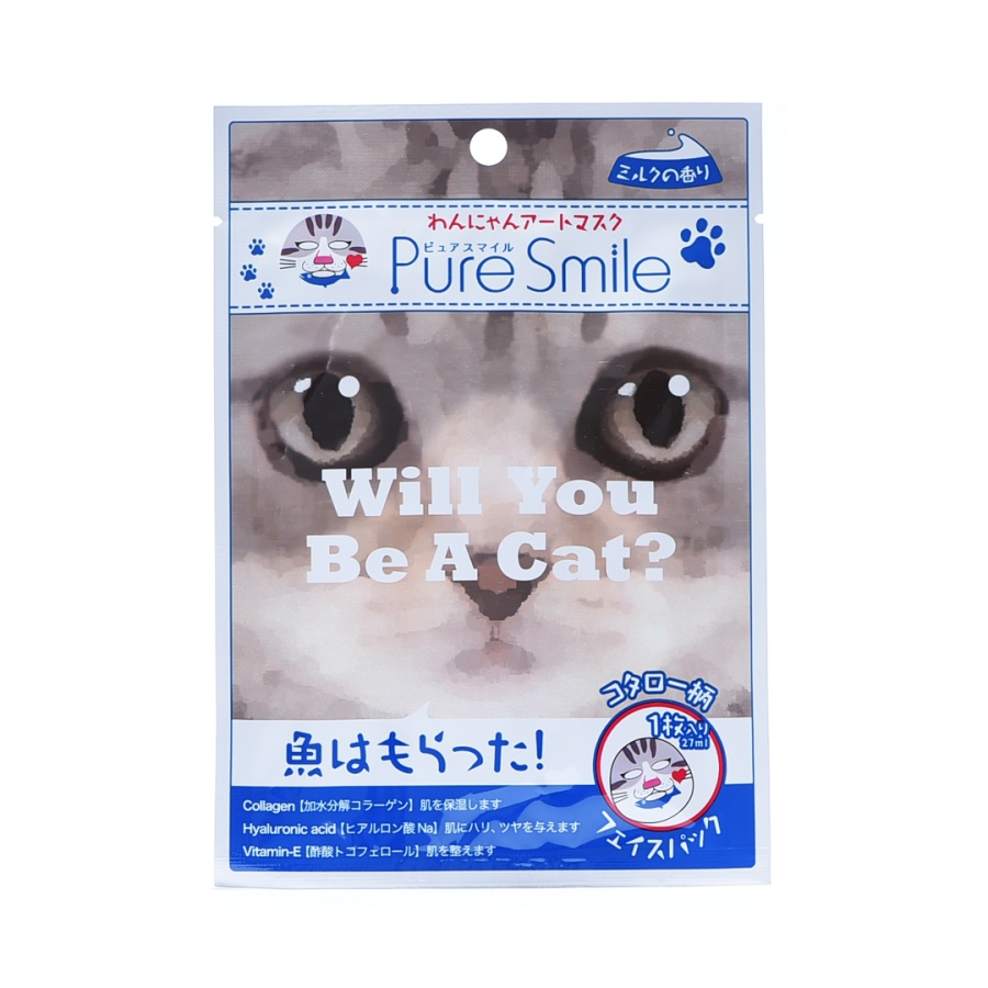 PURE SMILE 猫狗系列面膜 喵星人小太郎 1片