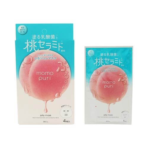 BCL momopuri 蜜桃乳酸菌水润保湿面膜 4片