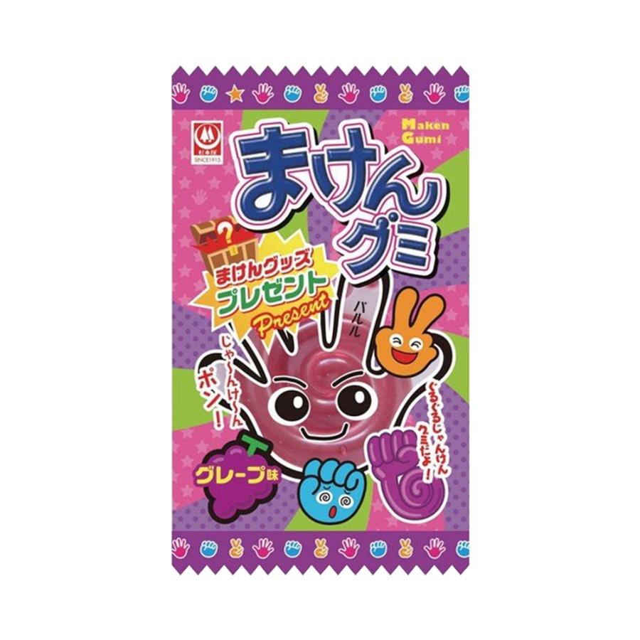 SUGIMOTOYASEIKA 杉本屋制果 石头剪刀布形状猜拳软糖 葡萄味 15g