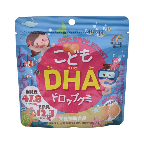 UNIMAT RIKEN 儿童深海鱼油DHA软糖 橘子味 90粒