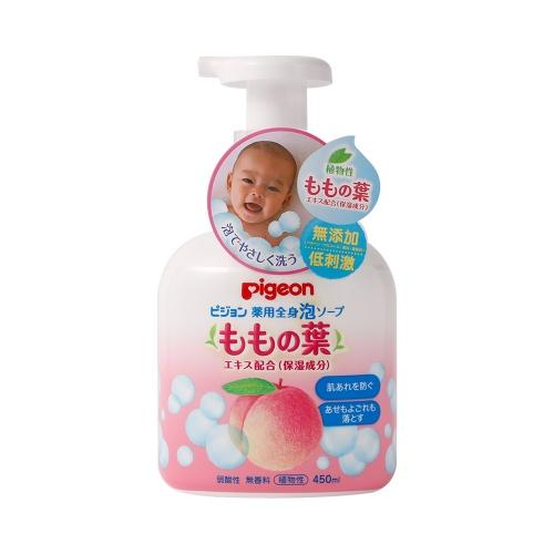 Pigeon 贝亲 桃叶精华洗发沐浴二合一沐浴乳 正装 450ml