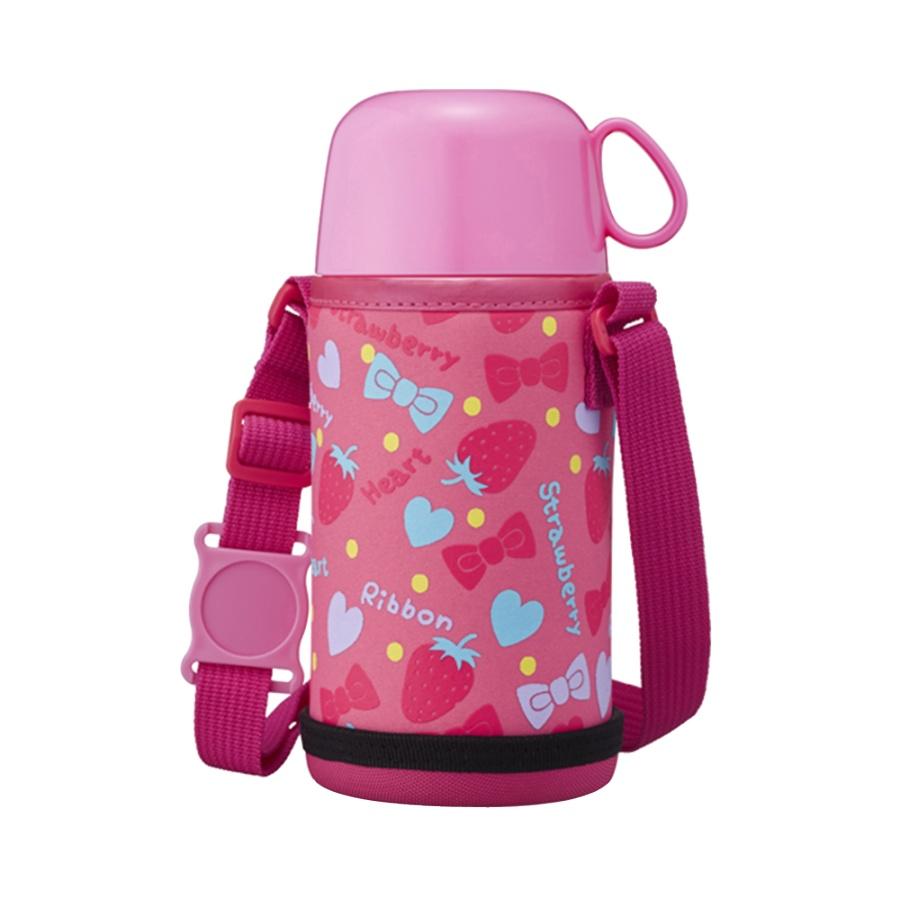 DOSHISHA 同志社 儿童两用轻量保温杯 粉色 450ml