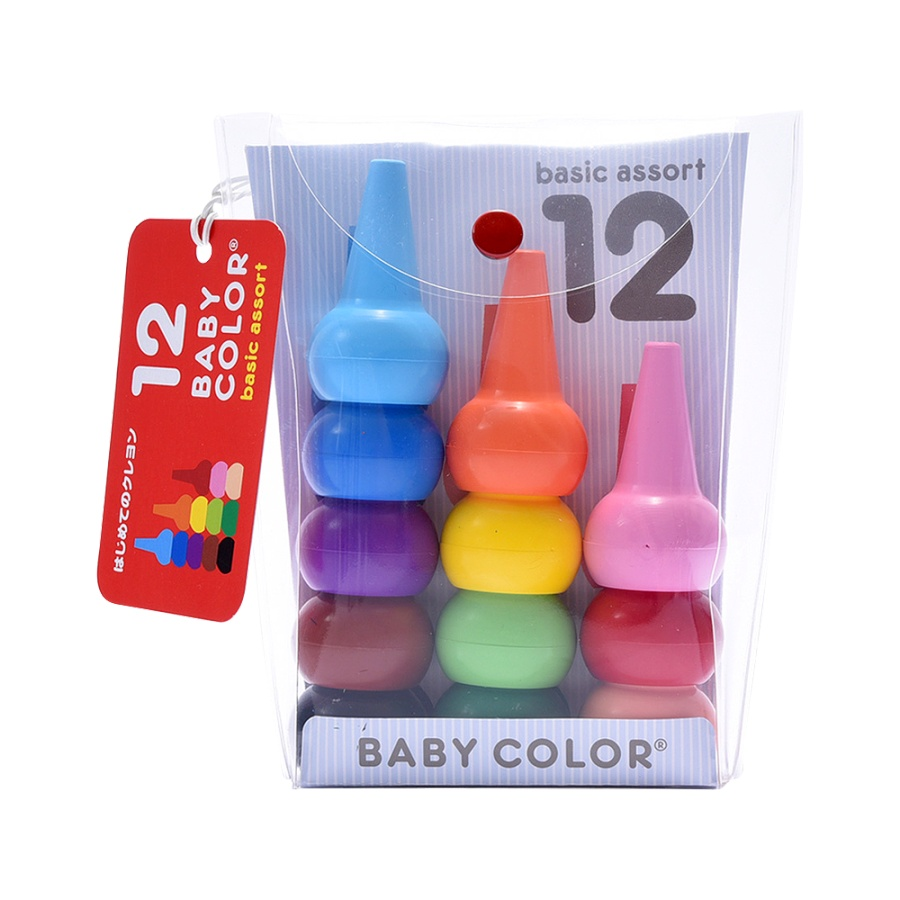 AOZORA 青空 12色积木蜡笔 12块