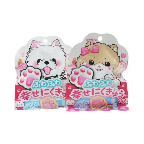 senjakuame 扇雀饴本铺 幸福猫爪水果橡皮糖  草莓牛奶味 30g
