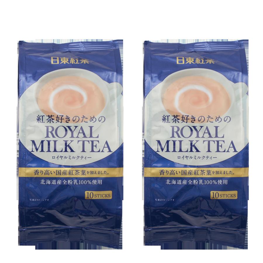 NITTOH-TEA 日东红茶 皇家经典奶茶速溶冲剂条 10包×2