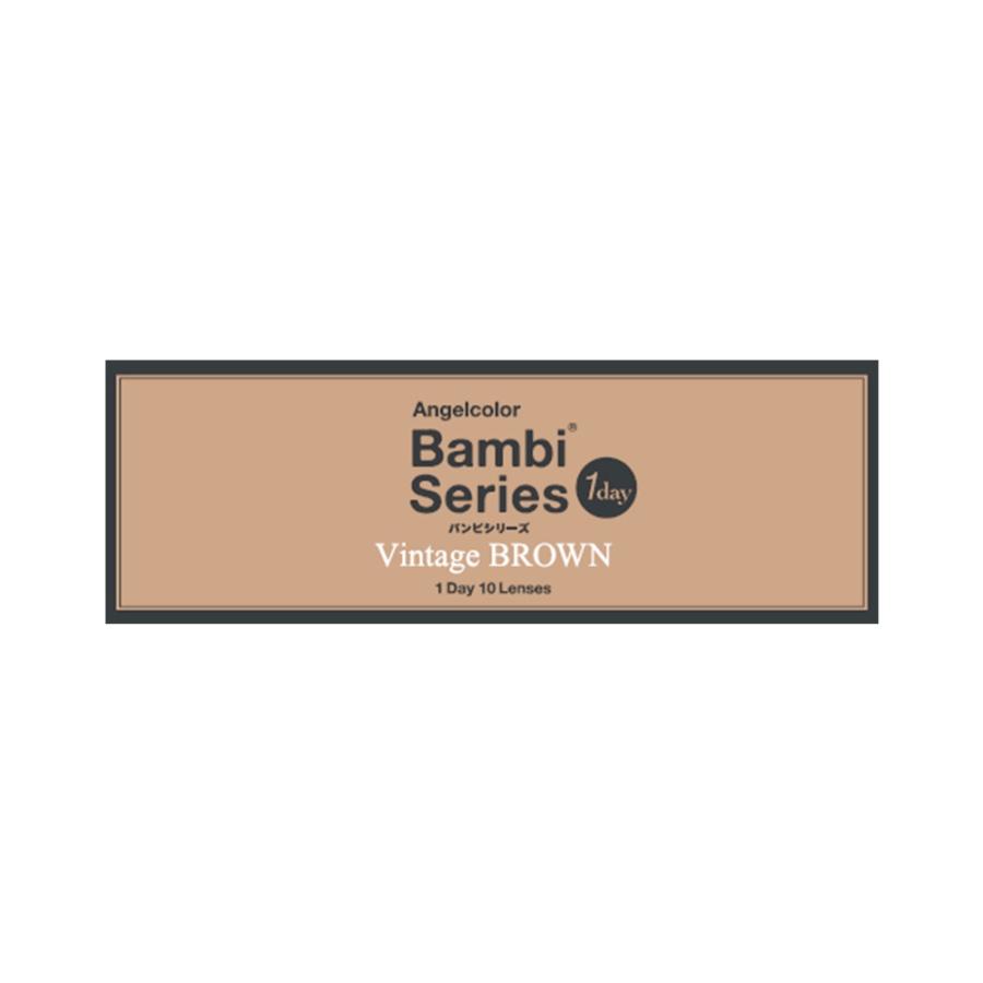 AngelColor Bambi系列日抛型美瞳 复古棕色 10枚 -0.75
