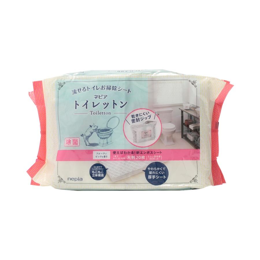 NEPIA 妮飘 厕所扫除用湿纸巾 果香型 10枚×2