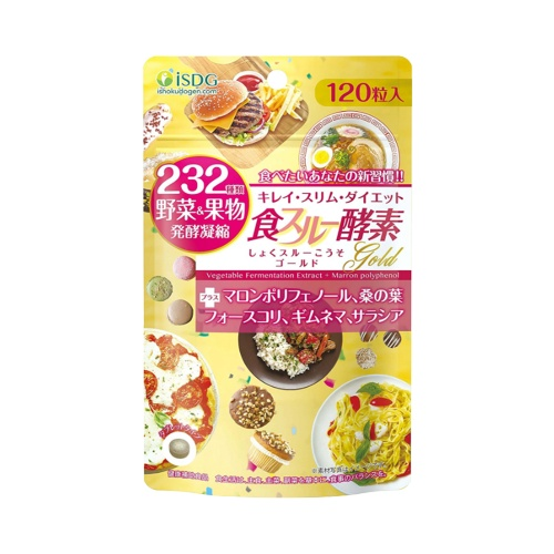 ISDG 医食同源 232种果蔬瘦身燃脂黄金酵素 120粒 1袋