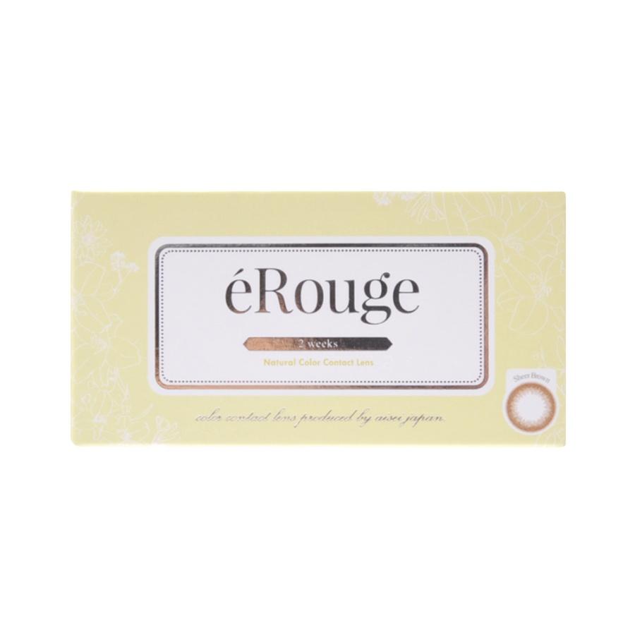 eRouge 2周抛型美瞳 6片装 Sheer Brown -4.25