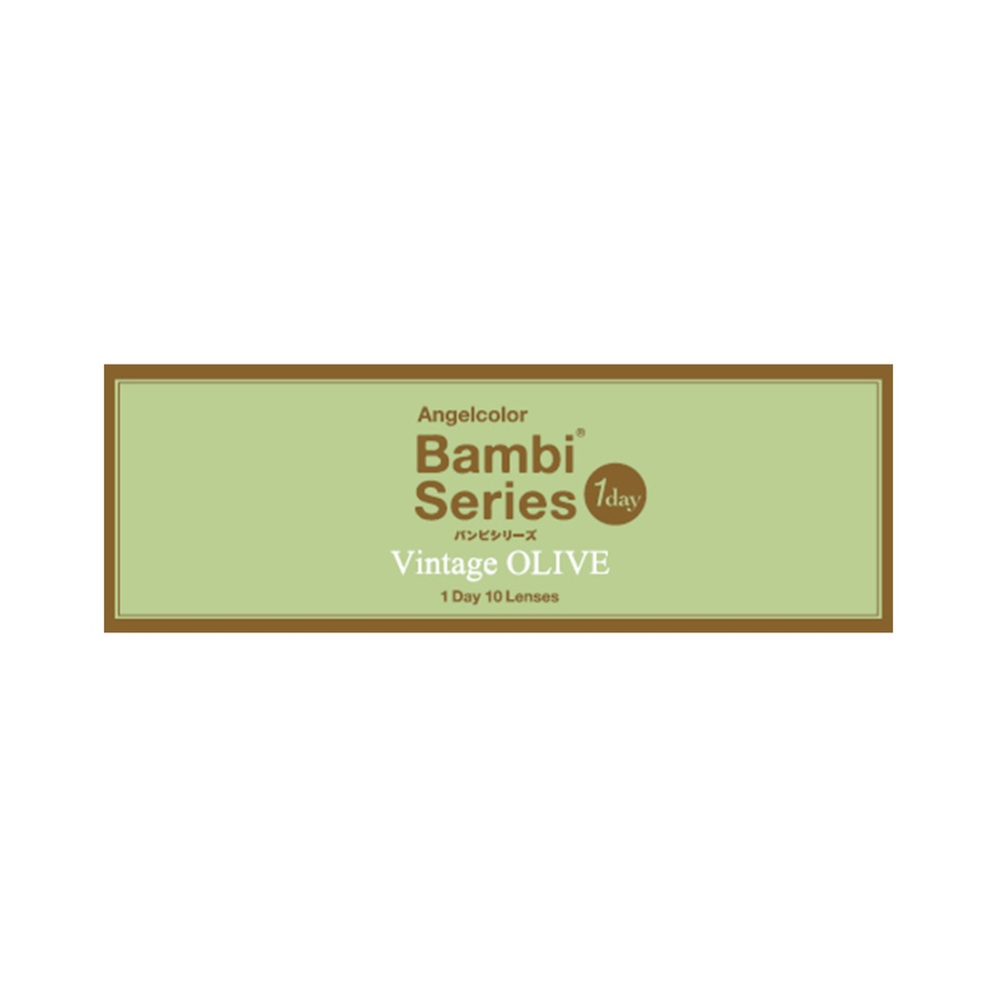 AngelColor Bambi系列日抛型美瞳 复古橄榄色 10枚 -6.00