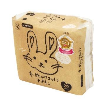 COTTON LABO 小兔子有机棉日用卫生巾 21cm 无护翼 20片