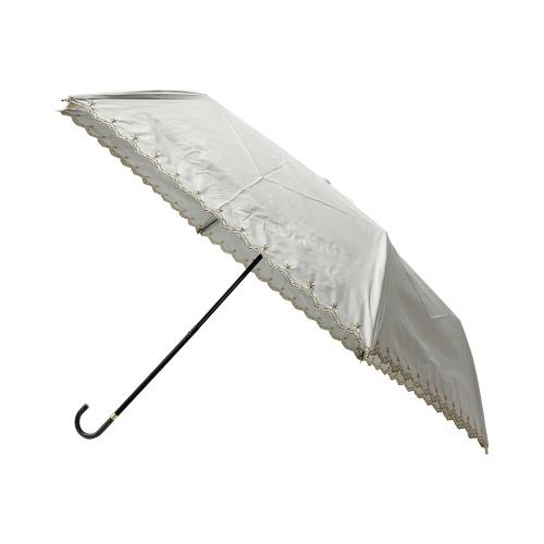 w.p.c 星星花边晴雨两用折叠伞 801-972 米白色 50cm 1把