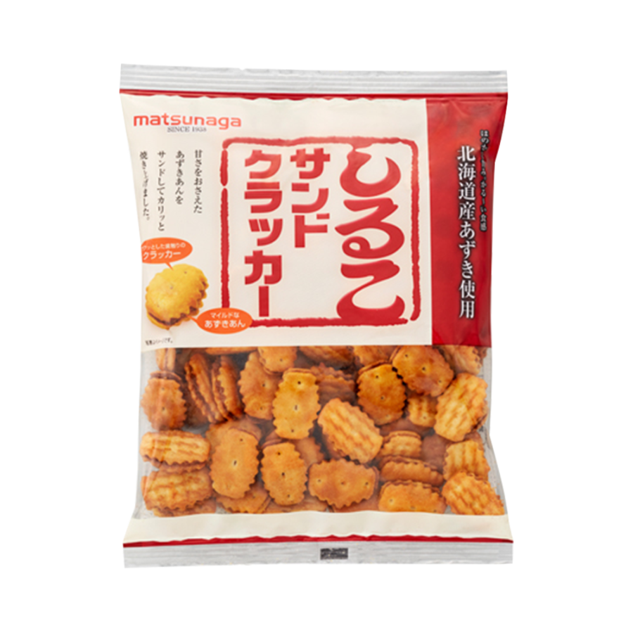 MATSUNAGA 松永制果 北海道红豆夹心酥脆饼干 110g