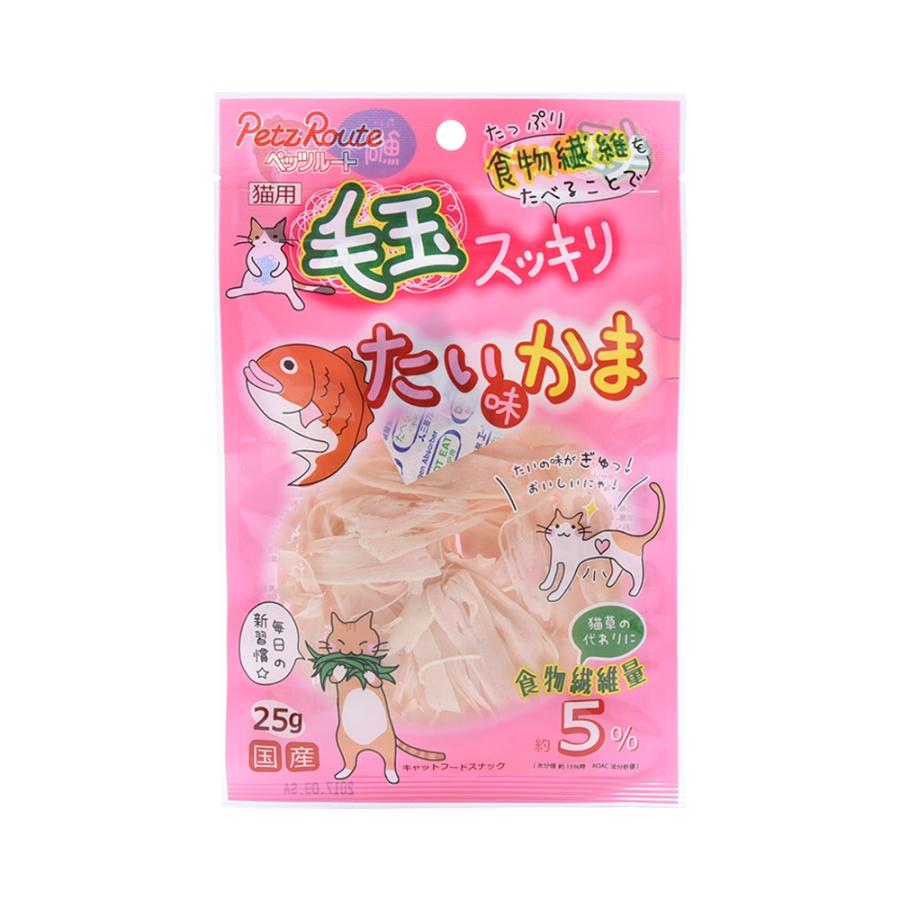 PETZ ROUTE 猫用排毛球鲷鱼味鱼糕片 25g
