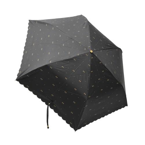 w.p.c 蝴蝶结晴雨两用三折伞 801–945 黑色 50cm 1把