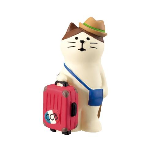 DECOLE concombre 旅行猫咪摆件 1个