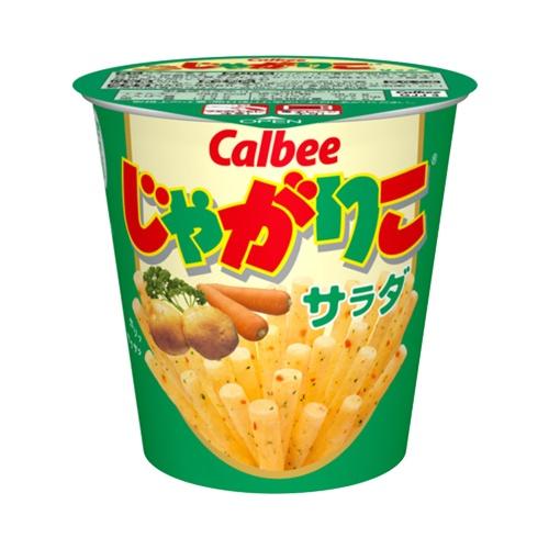 Calbee 卡乐比 Jagariko佳可丽坚脆薯条 沙拉味 1杯装 60g