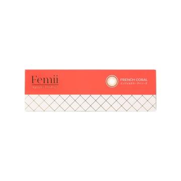 femii by angel color 日抛型美瞳 法式橙棕 10枚装 -0.50