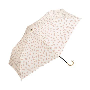 w.p.c 爱心点点迷你短柄雨伞 淡粉色 963-017 1把