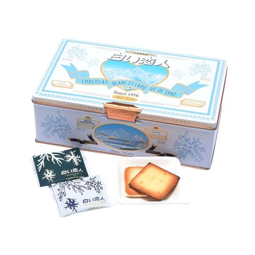 ISHIYA 石屋制菓 北海道白色恋人黑白配巧克力夹心饼干 铁盒装 54片装