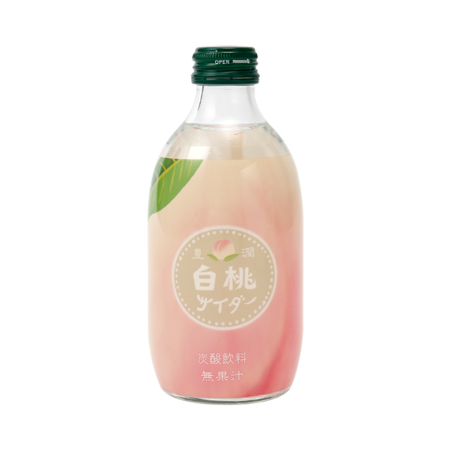 TOMOMASU 友桝饮料 日本人气水果味碳酸汽水 白桃味 300ml