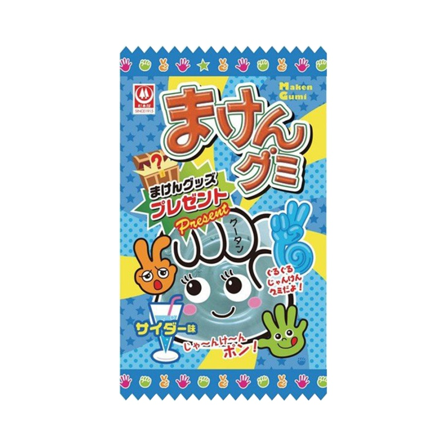 SUGIMOTOYASEIKA 杉本屋制果 石头剪刀布形状猜拳软糖 苏打味 15g