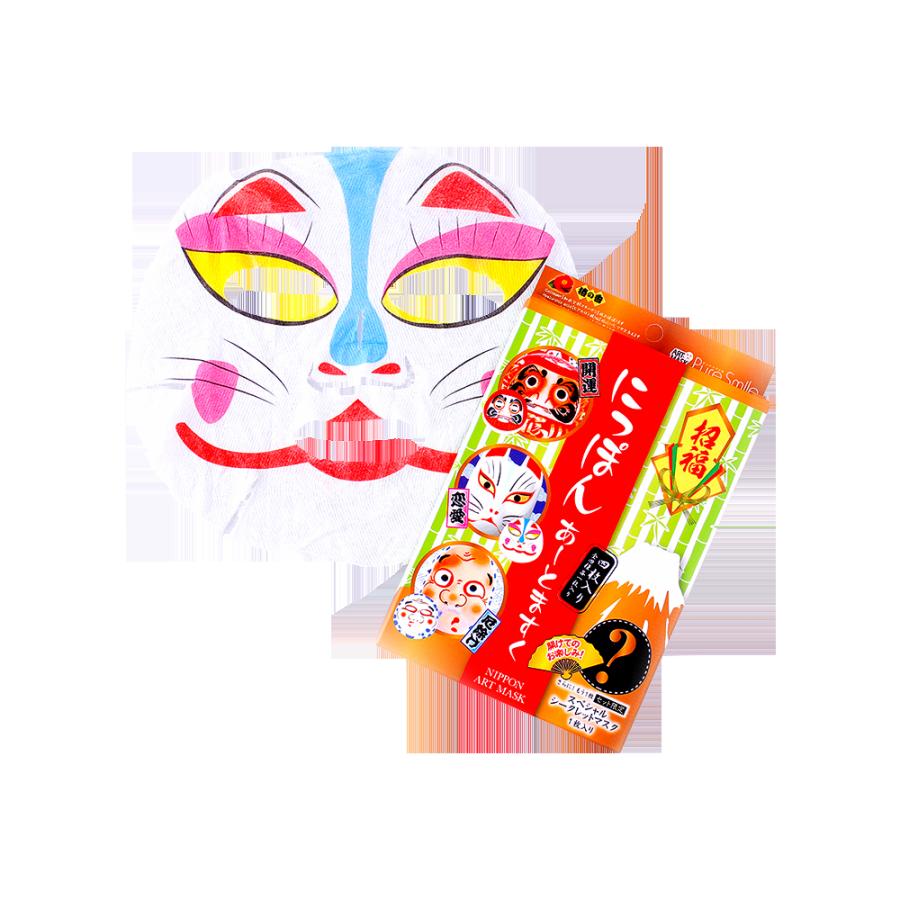 Pure Smile 招福日本统脸谱面膜 各种类套装 共4片