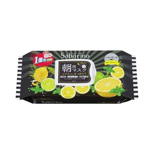 BCL Saborino早安面膜夏季黑色限定款冷感柠檬 32片