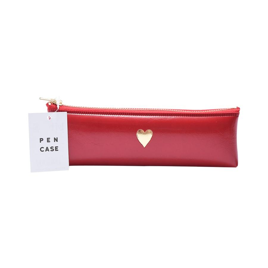 LoFt 心形图案笔袋 红底金心 1个