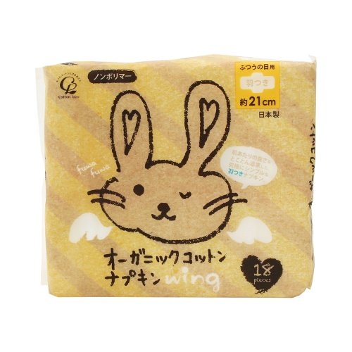 COTTON LABO 小兔子有机棉日用卫生巾 21cm 带护翼 18片