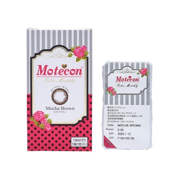 Motecon 月抛型美瞳 摩卡棕 1片装 -0.75