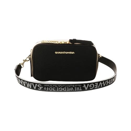Samantha Vega logo肩带挎包 黑色