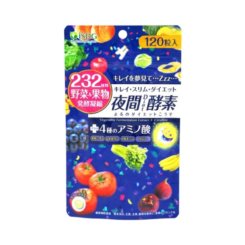 ISDG 医食同源 232种果蔬瘦身燃脂夜间酵素 120粒